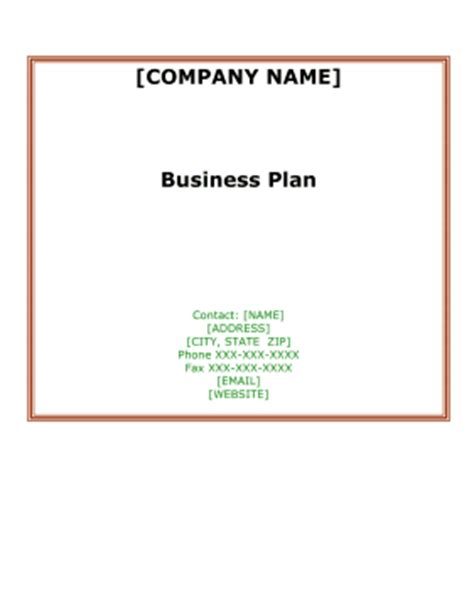 Sample spice business plan